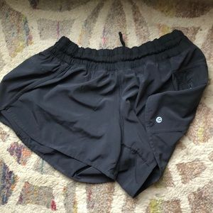 Black Lululemon speed shorts size 12